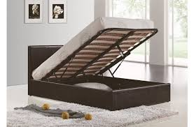cheap faux leather ottoman birlea berlin brown faux leather ottoman bed bedworld at bedworld