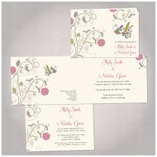 vintage colourful bird wedding invitations