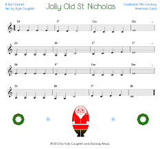 jolly old st nicholas for the clarinet free printable pdf