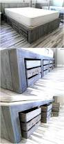 Wooden Beds With Drawers Underneath Best 25 Wooden Bed With Storage Ideas On Pinterest Wooden