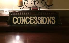 concessions home movie theater ballfield sports decor snack
