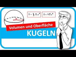kugeloberfl che berechnen 043 kugel volumen und oberfläche berechnen mathematik