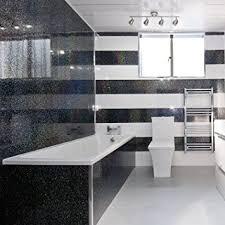 5 black sparkle diamond effect pvc bathroom cladding shower wall