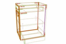 kitchen cabinet building materials frameless cabinet construction for materials saving