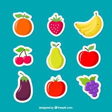 imagenes gratis de frutas y verduras frutas pegatinas descargar vectores gratis