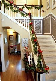 Banister Garland Ideas Best 25 Christmas Stairs Decorations Ideas On Pinterest