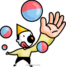 clowns juggling balls clown juggling balls royalty free vector clip illustration