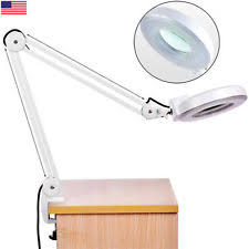 Desk Light With Magnifying Glass 5x Desk Table Clamp Mount Magnifier Lamp Light Magnifying Glass