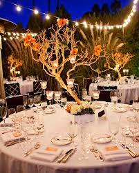 tree centerpieces orange wedding centerpieces martha stewart weddings