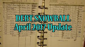 Debt Snowball Spreadsheet Debt Snowball April Update 41 813 70 Youtube