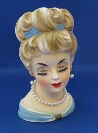 Napco Lady Head Vase Ladies Head Vase Vintage Head Vase Headvase Planter Rubens