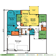 floor plan for one story house one story house home plans design basics