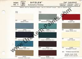 1967 chevrolet corvette car paint colors urekem paints