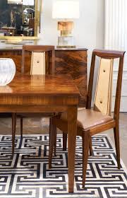 french art deco solid walnut dining chairs jean marc fray