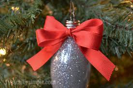 glitter light bulb ornament typically simple