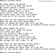 Turn Out The Lights Song Dolly Parton Song Behind Closed Doors Lyrics