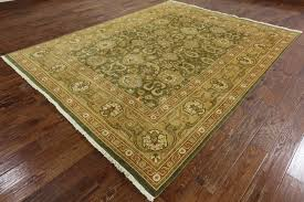 unique oushak collection 8x10 olive green chobi hand knotted wool