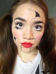 this easy broken doll makeup uses products you already own so