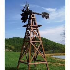 windmill aerators at the pond