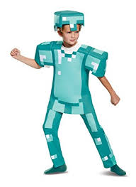 minecraft costume armor deluxe minecraft costume blue small 4 6