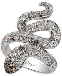 levian engagement rings le vian carpet chocolatier diamond snake ring 1 7 8 ct t w