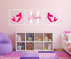 online get cheap mermaid wall decals aliexpress com alibaba group eco friendly 55x180cm wall decal mermaid personalized initial name wall sticker nursery girls room decor