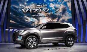 subaru suv concept subaru goes big with 7 seat crossover concept