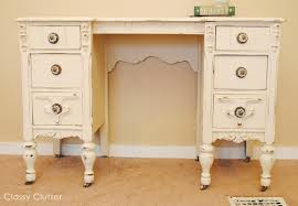 chalk paint desk and chair makeover classy clutter