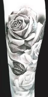 27 best whit and black rose tattoo for men images on pinterest