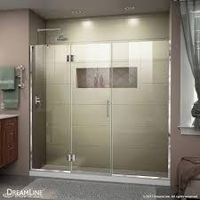 Large Shower Doors Unidoor X 72 72 1 2 Hinged Shower Door Dreamline