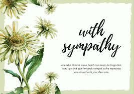 sympathy card light green flower sympathy card templates by canva