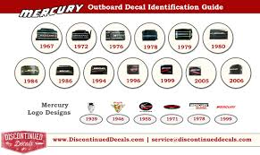 vintage mercury decals 1930 1990