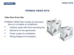 fermax video kit presentation 2014