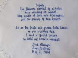 poem from bride to groom on wedding day new flower wedding hankie