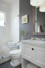 Guest Bathroom Decor Ideas Colors Nice Small Grey U0026 White Bathroom By Http Www Cool