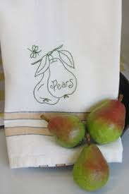 Kitchen Towel Embroidery Designs Free Embroidery Design Of A Couple Of Plump Pears