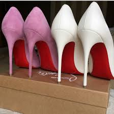 white patent leather christian louboutin red bottoms pointed toe