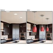 mini pendant lights for kitchen new recessed lighting to pendant adapter 47 about remodel