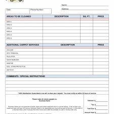 100 cleaning invoice template free carpet cleaning invoices