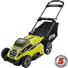Home Depot Deal Of Day ryobi 20 in 40 volt brushless lithium ion cordless battery push