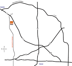 Boulder Zip Code Map by Directions 1stbank Center