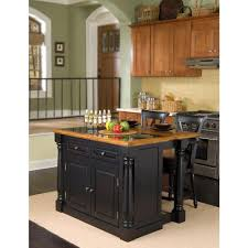 island kitchen home styles monarch black kitchen island with seating 5009 948