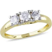 2 carat gold engagement ring 1 2 carat t w three engagement ring in 14kt yellow