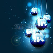 sale vector background with baubles on isolated