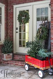 Decoration For Christmas Pinterest by Pretty Back Porch Decorated For Christmas With Vintage Radio Flyer