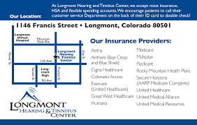 Longmont Colorado Map by Longmont Hearing U0026 Tinnitus Center Hearing Aids Longmont