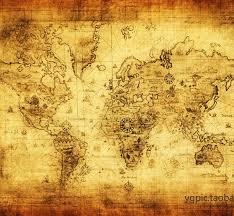 Decorative World Map Oil Painting On Canvas Core 100 Contton Vintage World Map No