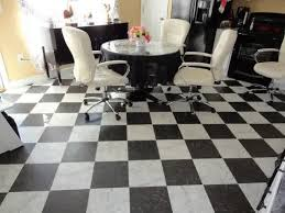 black and white checkered vinyl flooring sheet