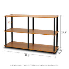 Display Shelving by Amazon Com Furinno 99130lc Bk Turn N Tube 3 Tier Double Size