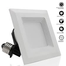 convert square recessed light to flush mount 4 inch square retrofit led recessed light torchstar